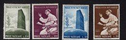 684622819 VATICAN 1965 POSTFRIS MINT NEVER HINGED POSTFRISCH EINWANDFREI SCOTT416 419 POPE PAUL VI AT THE UN - Luxembourg