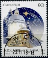 """Austria 2018 200 Jahre """"Stille Nacht"""" GESTEMPELT/USED/O - 1945-.... 2ème République"""
