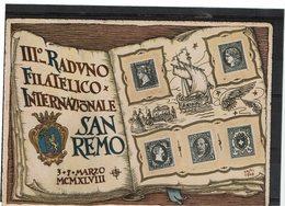 LBR26 - ITALIE CP EXP. PHIL. SAN REMO MARS 1948 - Expositions Philatéliques