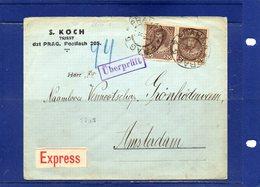 ##(ROYBOX1)-Postal History-Austria 1918- Express Cover From Prague To Amsterdam-Holland, Censored - 1850-1918 Empire