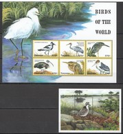 X794 TANZANIA FAUNA BIRDS OF THE WORLD 1KB+1BL MNH - Vögel