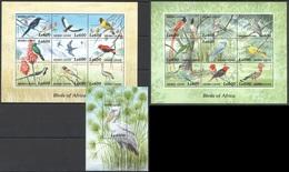 X795 SIERRA LEONE FAUNA BIRDS OF AFRICA 2KB+1BL MNH - Vögel
