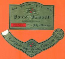 étiquette + Collerette De Champagne Brut Daniel Dumont à Rilly La Montagne - 75 Cl - Champagne