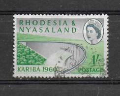 RHODESIA & NYASALAND 17th MAY 1960 SG35 KARIBA 1/- USED - Rhodesien & Nyasaland (1954-1963)