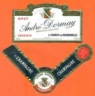 étiquette + Collerette De Champagne Brut André Dornayt à Cauroy Les Hermonville - 75 Cl - Champagne