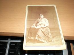 Old Cardboard  Pressburg  F L Schnitzel Visite Portrait - Photographs
