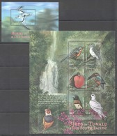 X802 TUVALU FAUNA BIRDS OF TUVALU & THE SOUTH PACIFIC 1KB+1BL MNH - Vögel
