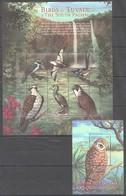 X803 TUVALU FAUNA BIRDS OF TUVALU & THE SOUTH PACIFIC 1BL+1KB MNH - Vögel
