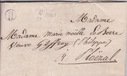 Lettre 1839 Cote D'Armor De Prat à Ploezal A Mne Marie Noelle Leberre - 1849-1876: Classic Period