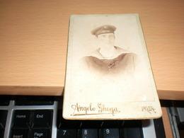 Old Cardboard  Pola Pula Angelo Ghega Sailor Mariner Bellona  Navy  Visite Portrait - Guerra, Militari