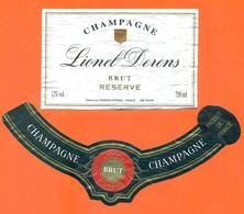 étiquette + Collerette De Champagne Brut Lionel Derens à épernay - 75 Cl - Champagne
