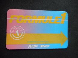 """CARTE RATP-SNCF """"FORMULE 1"""" - Chemin De Fer"""