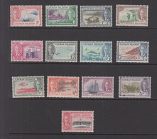 1950 Cayman KEVIII Definitives Complete Set Of 13  MNH  (from Old New Issue Collection - Never Opened Until 2018) - Cayman Islands