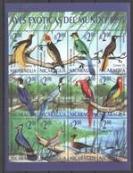 X811 1995 NICARAGUA FAUNA BIRDS AVES EXOTICAS DEL MUNDO 1SH MNH - Vögel