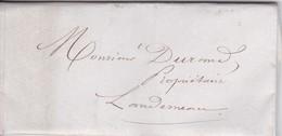 Lettre 1847 Finistère De Lambezellec A Landerneau De Maitre Faque A Mr Durand - 1849-1876: Classic Period