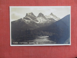 RPPC-   Canada > Alberta > Banff   Three Sisters  Ref 3101 - Banff