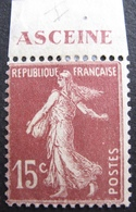 R1680/258 - 1924 - TYPE SEMEUSE - N°189a NEUF* BdF - Cote : 16,00 € - France