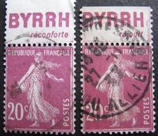R1680/259 - 1924 - TYPE SEMEUSE - N°190d ☉ BdF - Frankreich