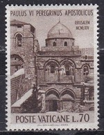 Città Del Vaticano, 1964 - 70 Lire Paolo VI° In Terra Santa - Nr.377 MNH** - Gebraucht