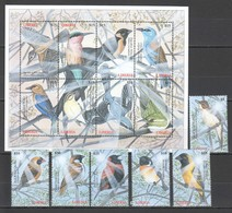 X825 LIBERIA FAUNA BIRDS 1SET+1KB MNH - Vögel