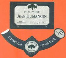 étiquette + Collerette De Champagne Brut Jean Dumangin à Chigny Les Roses - 75 Cl - Champagne