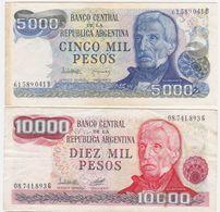 Argentina SET - 5000 5.000 10000 10.000 Pesos 1976 1983 - VF - Argentina
