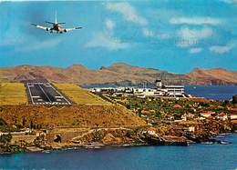 Gd Format :environ 15cms X10cms -ref Y292- Aviation -avions -avion -aeroports -aeroport Santa Cruz -madeira -portugal - Aérodromes