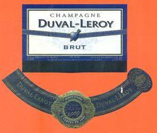étiquette + Collerette De Champagne Brut Cuvée An 2000 Duval Leroy à Vertus - 75 Cl - Champagne