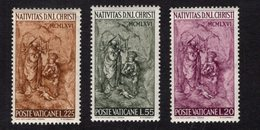 684635482 VATICAN 1966 POSTFRIS MINT NEVER HINGED POSTFRISCH EINWANDFREI SCOTT 445 447 NATIVITY BY SCORZELLI - Luxembourg