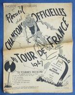 TOUR DE FRANCE 1947 VÉLO BOURVIL MAYE PIAF MONTAND FERNANDEL VIETTO THIETARD DANGUILLAUME BERRY CHARLE DASSARY MUER - Musique & Instruments