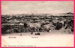 Uruguay - Montevideo - Vista General - Attelage - Calèche - Animée - Ed. ENRIQUE MONEDA Plaza Constitucion N° 20 - Uruguay