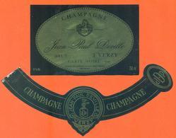 étiquette + Collerette De Champagne Brut Jean Paul Deville à Verzy - 75 Cl - Champagne