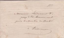 Lettre 1847 Finistère De Brest A Landerneau  A Mr Durand - 1849-1876: Classic Period