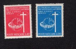 684636520 VATICAN 1967 POSTFRIS MINT NEVER HINGED POSTFRISCH EINWANDFREI SCOTT 453 454 3RD CONGRES CATHOLIC LAYMEN - Luxembourg