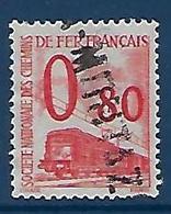 """FR Petits Colis YT 39 """" 80c. Rouge """" 1960 Oblitéré - Used"""