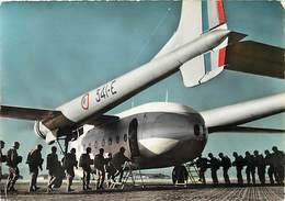 Gd Format :environ 15cms X10cms -ref Y288- Aviation -parachutisme -militaires Militaria - Avion 2501- - Paracadutismo