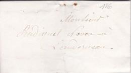 Lettre 1860 Finistère De Landerneau A Landerneau  A Mr Radiguet - 1849-1876: Classic Period