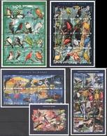 X832 MALI FAUNA BIRDS OF THE WORLD OISEAUX DU MONDE 4SH+1BL MNH - Vögel