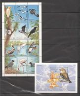 X833 COMMONWEALTH OF DOMINICA FAUNA BIRDS 1SH+1BL MNH - Vögel