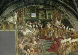CITA DEL VATICANO Stanze Di Raffaello Pièce De L'Incendie Le Couronnement De Charlemagne RV Beau Timbre L 55 Poste Vatic - Vatican