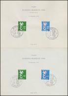 ETB-Vorläufer-Set EUROPA / CEPT 1958 Mit Bund 295-296 SB Und Saarland 439-440 SB - BRD