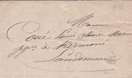 Lettre 1877 Finistère De Landerneau A Landerneau  Cachet Commisaire De Police Landerneau A Mr Couét - Poststempel (Briefe)