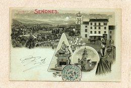 CPA - SENONES (88) - Lithographie Multi-vues  De 1905  -  Hôtel Barthélémy - Senones