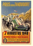 Car Automobile Grand Prix Postcard Zandvoort Nederland 1948 - Reproduction - Pubblicitari
