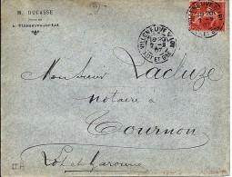 47 - LOT ET GARONNE - VILLENEUVE S/LOT -  1904/07 - TàD De Type A3 + EN TETE - Marcophilie (Lettres)