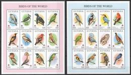 X840 1994 GUYANA FAUNA BIRDS OF THE WORLD 2SH MNH - Vögel