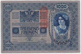 Austria P 59 - 1000 1.000 Kronen 2.1.1912 ( 1919 ) - VF - Autriche
