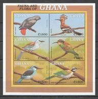 X841 GHANA FAUNA & FLORA BIRDS 1KB MNH - Vögel
