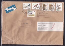 Zuid Afrika 1998 Envelop Met Vogels Etc Naar Douanedistrict Rotterdam - Vögel