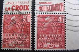 R1680/270 - 1930 - N°272b (II) BdF + CdF ☉ - Frankreich
